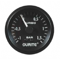DURITE 52mm TURBO BOOST GAUGE, 12 or 24 volt